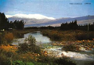 Israel Jordan River and Mt Hermon Covered With Snow