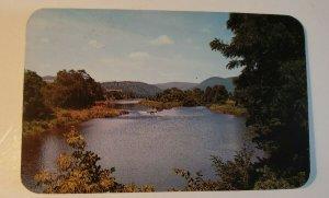 VTG Postcard Hancock New York Catskill Mountain 1965 postmark Delaware River 708