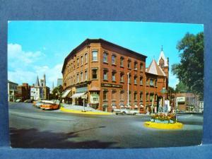 Postcard VT St. Johnsbury 1950's Main & Eastern Avenue Street View Old Cars
