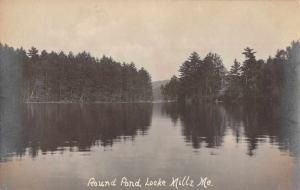 Locke Mills Maine Round Pond Scenic View Real Photo Antique Postcard J73086
