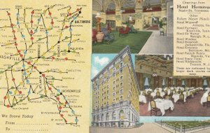 NASHVILLE , Tennessee , 1930-40s ; Hotel Hermitage , Map To and from: #2