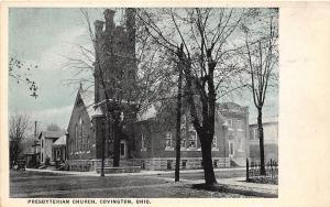 Ohio Postcard c1910 COVINGTON Presbyterian Church Miami County