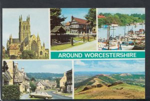 Worcestershire Postcard - Views Around Worcestershire    T7194