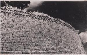 Chevron Pattern on Temple Wall Zimbabwe Real Photo Old Postcard