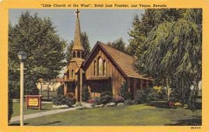 Las Vegas Nevada 1940s Postcard Little Church of the West Hotel Last Frontier