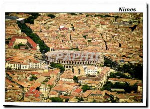 Modern Postcard Nimes Gard General view of the city center or the arenas