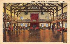 Interior of Service Club No. 2, Camp Campbell, Ky, Tenn. US Army Military, Mi...