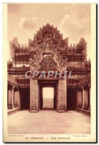 Old Postcard Angkor Wat Inner Court