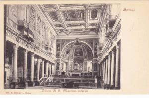 Roma , Chiesa di S. Martino-interno