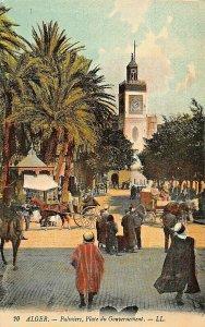 ALGER ALGERIA AFRICA~PALMIERS-PLACE du GOUVERNEMENT~TINTED LL PHOTO POSTCARD