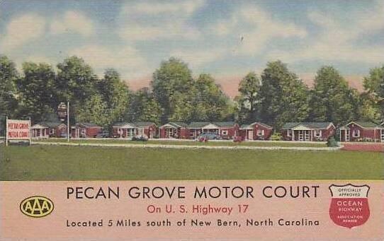 North Carolina New Bern Pecan Grove Motor Court