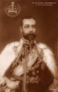 H.M King Goerge V in Coronation Robes
