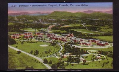 Virginia Postcard Veterans Hospital Salem Roanoke