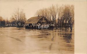 C29/ Grand Rapids? Michigan Mi RPPC Postcard c1910 Grand River Flood Disaster