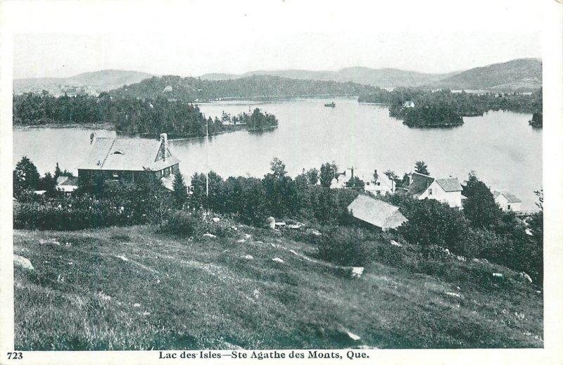 Postcard Canada lac des isles ste agathe des monts quebec panoramic view village