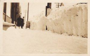 RP, Church Street in Winter, AMHERSET, Nova Scotia, Canada , 1910s