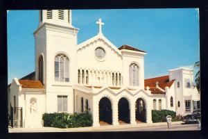 West Palm Beach, Florida/FL Postcard, St Ann's Church, 1950's Car