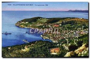 Old Postcard Villefranche Sur Mer Vue Generale