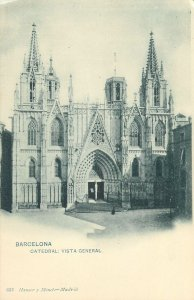 Postcard Spain Barcelona Cathedral