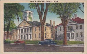 Maine Augusta County Buildings 1948