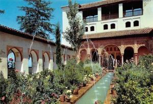 Spain Granada Generalife, Patio de la Acequia, Courtyard of the Canal Fountain