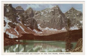 Alberta, Canada, Moraine Lake and Valley Of The Ten Peaks