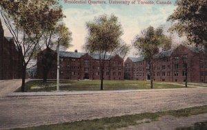 TORONTO, Ontario, Canada, 1900-1910s; Residential Quarters, University Of Tor...