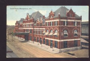 MONTGOMERY ALABAMA UNION RAILROAD DEPOT TRAIN STATION VINTAGE POSTCARD