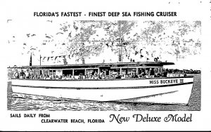 Florida Clearwater Beach Deep Sea Fishing Cruiser Miss Buckeye III