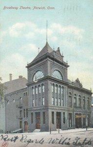 NORWICH ,  Connecticut, 1909 ; Broadway Theatre , V-2