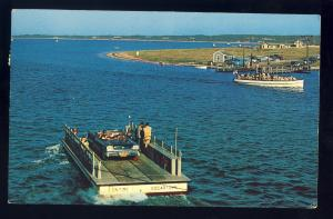 Chappaquiddick, Edgartown, Massachusetts/Mass/MA Postcard, Ferry On Time 1969!