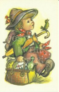 Little Folks Printed in Belgium Vintage Postcard Artist signed Alfred Mainzer