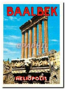Postcard Modern Lebanon Six columns of the Temple of Jupiter