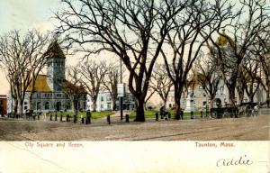 MA - Taunton. City Square and Green