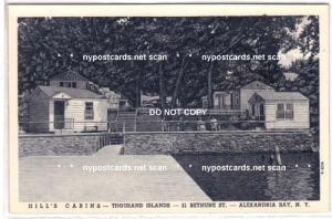 Hill's Cabins, Alexandria Bay NY