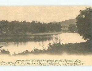 Pre-1907 RIVER SCENE Plymouth New Hampshire NH AE6983