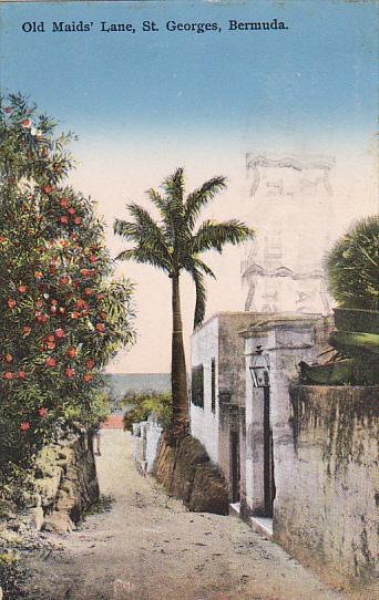 Bermuda Old Maids' Lane St Georges 1937