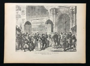1871 Newspaper Print, BEFORE THE CAPITULATION - STROLL ON THE BOULEVARDS, Seige