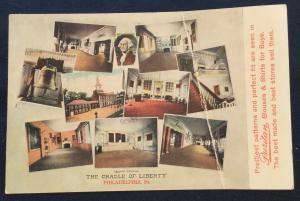 Postcards 2 Advertising Unused (1 bent) Ind Hall/Liberty Philadelphia PA LB
