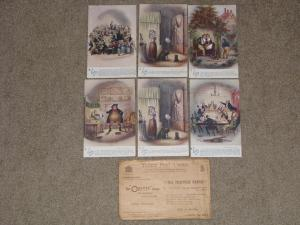 Five of the Six Pickwick Papers (1 duplicate) by Tucks, unused with Wrapper