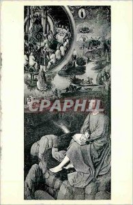 Postcard Modern Mystic Marriage of Saint Catherine panel of the triptych visi...