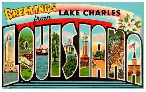Louisiana Lake Charles LARGE LETTER