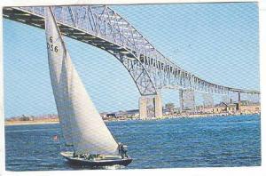 Blue Water Bridge, Sailboat, Sarnia, Ontario, Canada, 1940-1960s