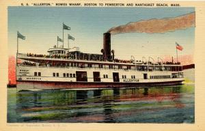 MA - Nantasket Beach. SS Allerton at the Wharf