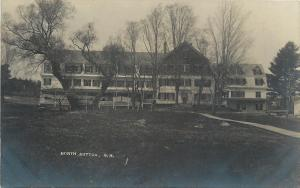 North Sutton New Hampshire~Huntoon House~Resort Inn~1910 Real Photo~RPPC
