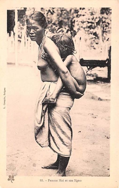Cambodia, Cambodge Femme Moi et son Ngno  Femme Moi et son Ngno