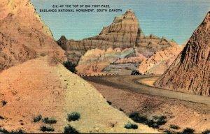 South Dakota Badlands National Monument At The Top Of Big Foot Pass