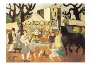 Postcard Art LA FOIRE DE NEUILLY (1923) by Christopher Wood MU2256 #83