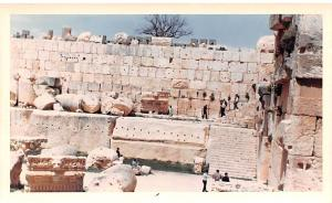 Baalbek, Lebanon Postcard, Carte Postale Cornice Stone with Lions Headsnon po...