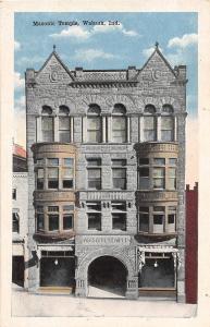 Indiana In Postcard c1910 WABASH Masonic Temple Building
